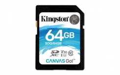Memoria Flash Kingston Canvas Go!, 64GB SDXC UHS-I Clase 10