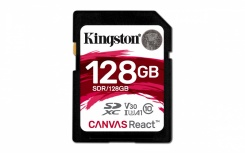 Memoria Flash Kingston Canvas React, 128GB SDXC UHS-I Clase 10