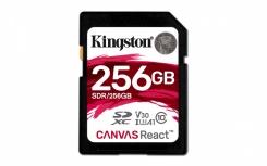 Memoria Flash Kingston Canvas React, 256GB SDXC UHS-I Clase 10