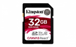 Memoria Flash Kingston Canvas React, 32GB, SDHC Clase 10