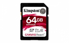 Memoria Flash Kingston Canvas React, 64GB, SDXC Clase 10