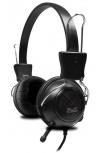 Klip Xtreme KSH-320 Audífonos con Micrófono, Alámbrico, Negro