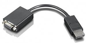 Lenovo Adaptador DisplayPort Macho - VGA Hembra, Negro
