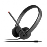 Lenovo Auriculares Stereo Analog, Alámbrico, 3.5mm, Negro