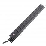 LinkedPRO PDU para Rack 1U, 15A, 120V, 10 Contactos, Negro