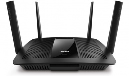 Router Linksys Ethernet Smart WiFi EA8500 Max-Stream AC2600 MU-MIMO, Inalámbrico, 4x RJ-45, 2.4-5GHz, con 2 Antenas Externas ― ¡Optimizado para Gaming!
