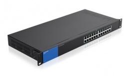 Switch Linksys Gigabit Ethernet LGS124, 24 Puertos 10/100/1000Mbps, 8000 Entradas - No Administrable