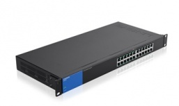 Switch Linksys Gigabit Ethernet para Rack LGS124P, 24 Puertos 10/100/1000 Mbps, 8000 Entradas