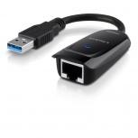 Linksys Adaptador Gigabit Ethernet USB 3.0, Negro
