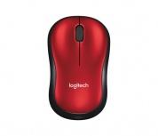 Mouse Logitech Óptico M185, Inalámbrico, USB, Rojo
