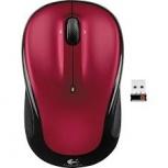 Mouse Logitech Óptico M325, Inalámbrico, Bluetooth, 1000DPI, Negro/Rojo