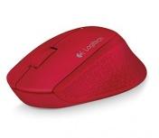 Mouse Logitech Óptico M280, Inalámbrico, 1000DPI, USB, Rojo