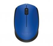 Mouse Logitech Óptico M170, Inalámbrico, USB, Negro/Azul