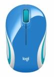 Mini Mouse Logitech Óptico M187, Inalámbrico, USB, 1000DPI, Azul Cielo