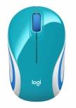 Mini Mouse Logitech Óptico M187, Inalámbrico, USB, 1000DPI, Turquesa