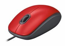 Mouse Logitech Óptico M110 Silent, Alámbrico, USB, 1000DPI, Rojo