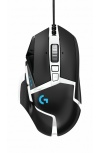 Mouse Gamer Logitech Óptico G502 Hero RGB, Alámbrico, USB, 16.000DPI, Negro/Blanco