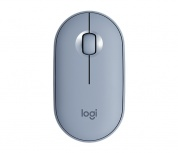 Mouse Logitech Óptico Pebble M350, Inalámbrico, Bluetooth, 1000DPI, Azul