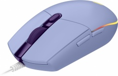 Mouse Gamer Logitech Óptico G203 LightSync, Alámbrico, USB, 8000DPI, Lila