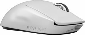 Mouse Gamer Logitech Óptico Pro X Superlight, Inalámbrico, Lightspeed, USB A, 25.400DPI, Blanco