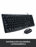 Kit de Teclado y Mouse Logitech MK200, USB, Negro (Español)