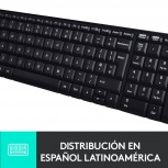 Kit de Teclado y Mouse Logitech MK220, Inalámbrico, USB, Negro (Español)