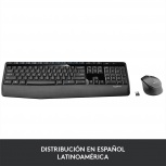 Kit de Teclado y Mouse Logitech MK345, Inalámbrico, Negro (Español)