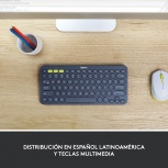 Teclado Logitech Mini Multidispositivo K380, Bluetooth, Negro (Español)