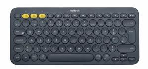Teclado Logitech K380, Inalámbrico, Bluetooth, Gris (Inglés)