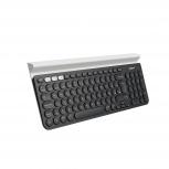 Teclado Logitech K780, Inalámbrico, Bluetooth, Negro (Español)