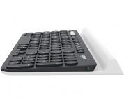 Teclado Logitech K780, Inalámbrico, USB + Bluetooth, Negro/Blanco (Español)