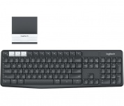 Teclado Logitech K375s, RF Inalámbrico, Wireless/Bluetooth, Grafito/Blanco (Español)