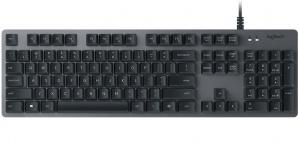 Teclado Logitech K840, Alámbrico, USB, Negro (Inglés)