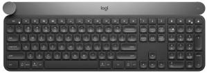 Teclado Logitech Craft, Inalámbrico, Bluetooth, Gris (Inglés)