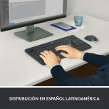 Kit de Teclado y Mouse Logitech MK540 Advance, RF Inalámbrico, USB, Negro/Blanco (Español)