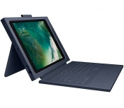 Logitech Funda Rugged Combo 2 con Teclado para iPad, Negro