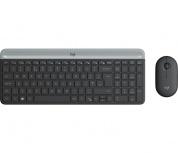 Kit de Teclado y Mouse Logitech MK470, RF Inalámbrico, USB, Negro/Grafito (Español)