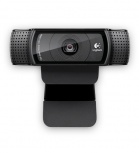 Logitech Webcam HD Pro C920 con Micrófono, Full HD, 1920 x 1080 Pixeles, USB 2.0, Negro