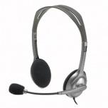 Logitech Audífonos con Microfono H110, Plata