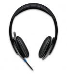 Logitech Audífonos con Micrófono H540, Alámbrico, USB, Negro