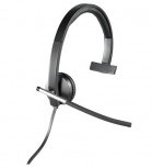 Logitech H650e Mono Audífonos con Micrófono, Alámbrico, USB, Negro