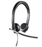 Logitech H650e Stereo Audífonos con Micrófono, Alámbrico, USB, Negro