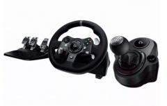 Logitech Kit de Volante/Pedales/Palanca Shifter G920, Alámbrico, USB 2.0, Negro