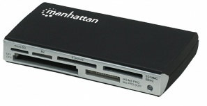 Manhattan Lector de Tarjetas, 60 en 1, USB 2.0, Negro