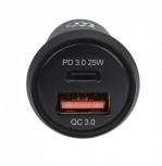 Manhattan Cargador para Auto 102414, 20V, 1x USB-C, 1x USB-A, Negro