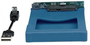 Manhattan Gabinete de Disco Duro 2.5'' SATA, USB 2.0 Silicona Azul