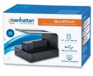 Manhattan QuickDock SuperSpeed 3.5''/2.5'', SATA, USB 3.0, Negro