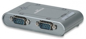 Manhattan Convertidor USB - Serie 4x RS-232 9-pin, Plata