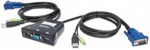 Manhattan Switch KVM 151245, 2x USB, 2x VGA