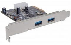 Manhattan Tarjeta PCI Express 10 Gbit/s, 2x USB 3.0